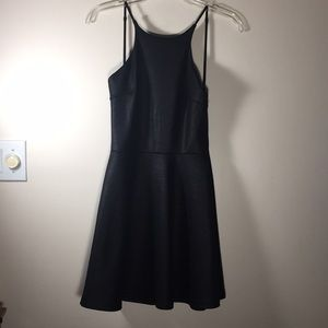 Sage Skater low back dress Charcoal gray M